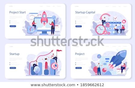 Cég vezetőség leszállás oldal menedzserek technológiák Stock fotó © RAStudio