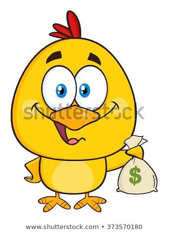 面白い 黄色 ひよこ お金 ストックフォト © hittoon