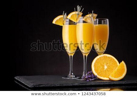 ストックフォト: 眼鏡 · シャンパン · 装飾された · ラベンダー · ボトル · ぼやけた
