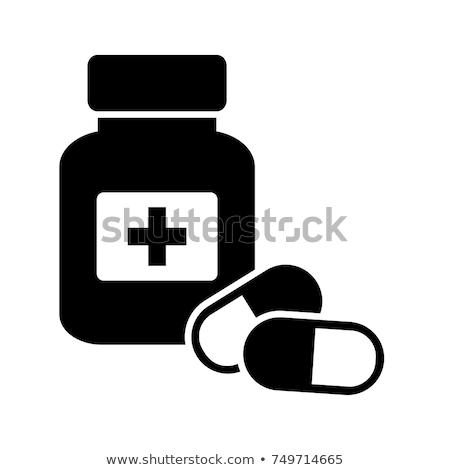 gyógyszeres · üveg · izolált · fehér · egészség · kórház · ipar - stock fotó © imaagio