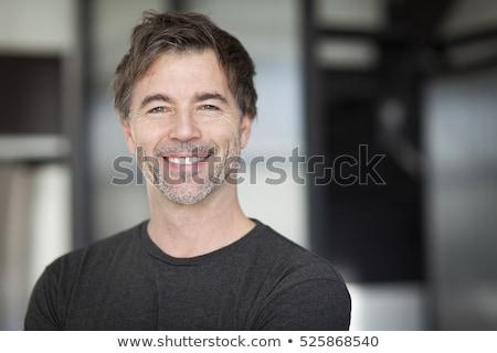 Portret aantrekkelijk 40 jaar oude man haren Stockfoto © Lopolo