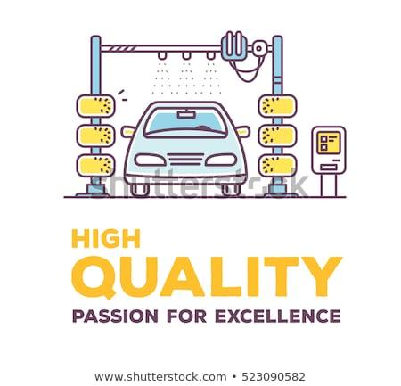 Car wash service concept banner header. Stock photo © RAStudio