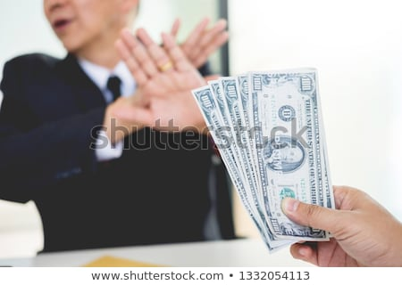 Businessman refuses to receive money that come with agreement pa Stock photo © snowing