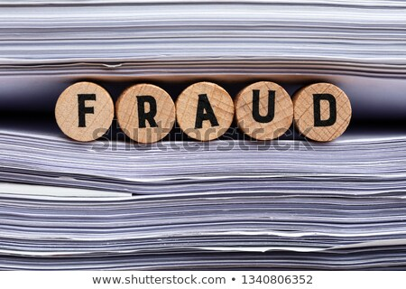 Fraude texte papier bois Cork Photo stock © AndreyPopov