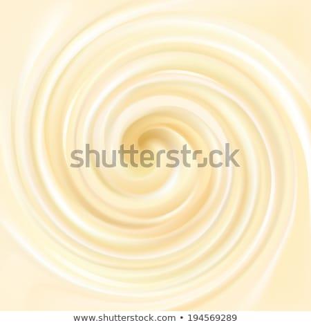 взбитые сливки шаблон вектора белый сливочный Swirl Сток-фото © pikepicture