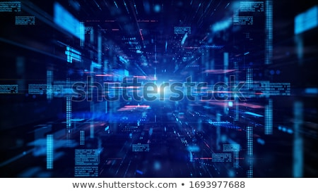 digital technology background with glowing circuit lines Stock photo © SArts