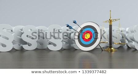 Cible poutre équilibre blanche or bannière Photo stock © limbi007