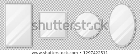 Spiegel Grafik-Design Vorlage Vektor isoliert Illustration Stock foto © haris99