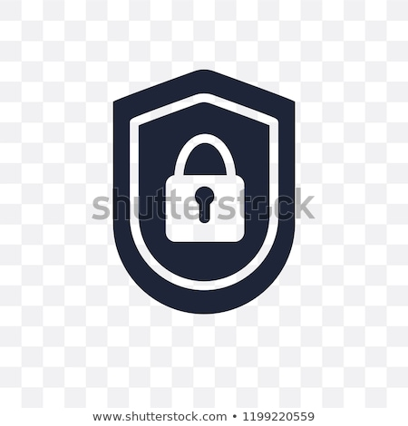 Icon of lock which symbolizes safe protection for SEO concept Stock photo © ussr