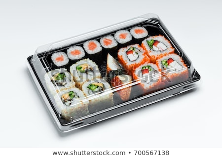 japanese cuisine sushi set in a package stock photo © oleksandro