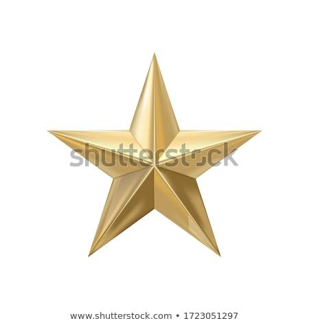 Altın star güzel simetrik parlak keskin Stok fotoğraf © jeff_hobrath