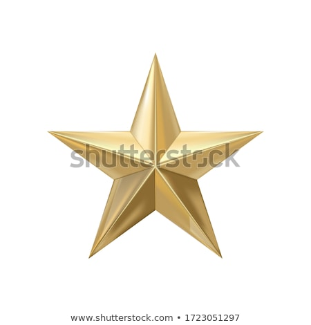 Ouro estrela belo simétrico brilhante forte Foto stock © jeff_hobrath