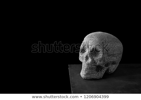 sparkly skull against a black background Stock photo © nito