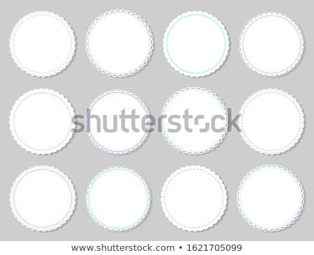 Isolado cinza borda ervilhas vetor Foto stock © robuart