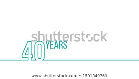 40 years anniversary or birthday linear outline graphics can be used for printing materials brouc stock photo © kyryloff