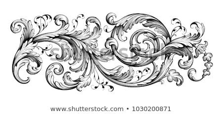 Jahrgang Damast Fanfare Muster Vektor royal Stock foto © frimufilms