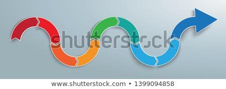 Curve onda infografica banner arrow Foto d'archivio © limbi007