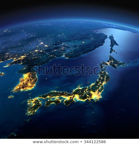 Dettagliato terra notte Asia Giappone japanese Foto d'archivio © Antartis