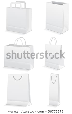 Gift Paper Bags Set Isolated Transparent background Stock photo © adamson
