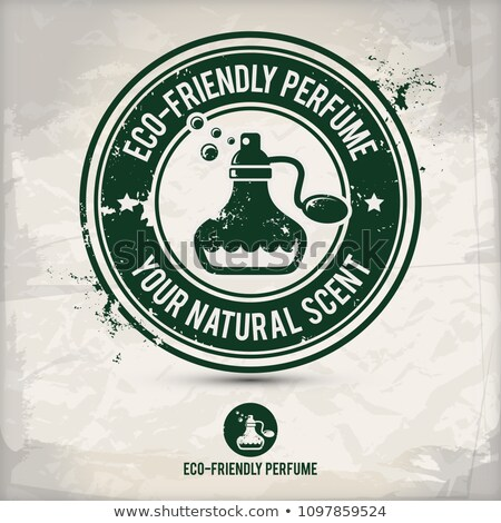 alternative eco friendly perfume stamp Stock photo © szsz