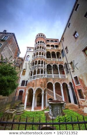 винтовая лестница здании Венеция Италия известный лестница Сток-фото © AndreyPopov