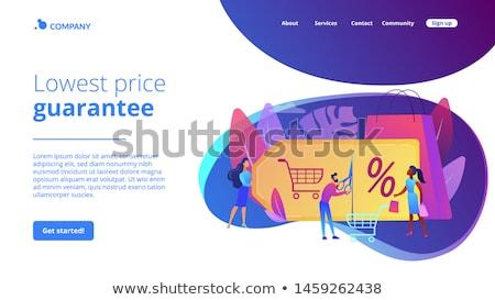 Program leszállás oldal vásárló attrakció marketing Stock fotó © RAStudio