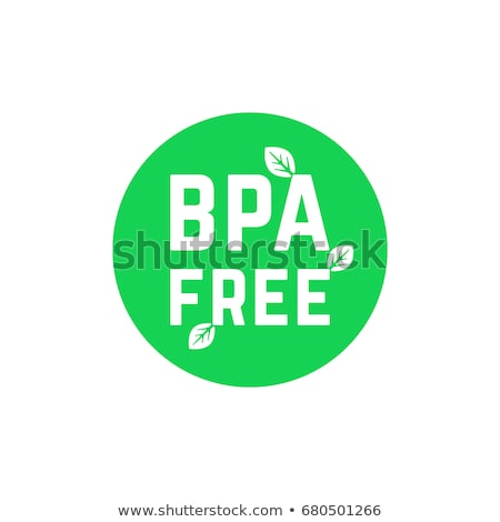 Wolna etykiety zielone stylu podpisania pić Zdjęcia stock © SArts