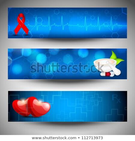 Gezondheidszorg banner medische elektrocardiogram hart gezondheid Stockfoto © SArts