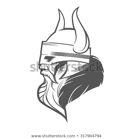 Angry Norseman Head Mascot Stock photo © patrimonio