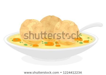 Comida Páscoa dos judeus ilustração sopa bola Foto stock © lenm