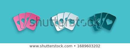 Gambling Paper Cards on Green, Deck of Aces Vector Stock photo © robuart