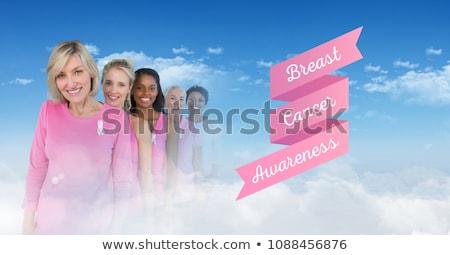 uśmiechnięty · kobiet · różowy · rak · piersi · świadomość - zdjęcia stock © wavebreak_media