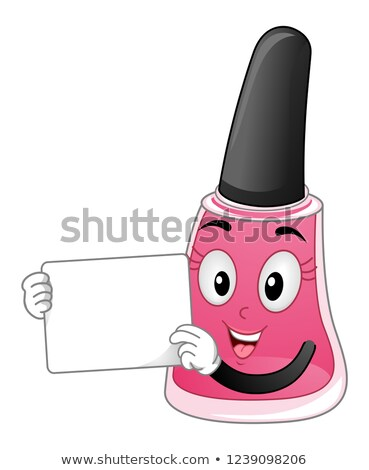 Kabala körömlakk tábla illusztráció rózsaszín üveg Stock fotó © lenm