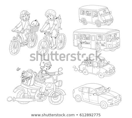 набор · детей · коляске · иллюстрация · здоровья · фон - Сток-фото © izakowski