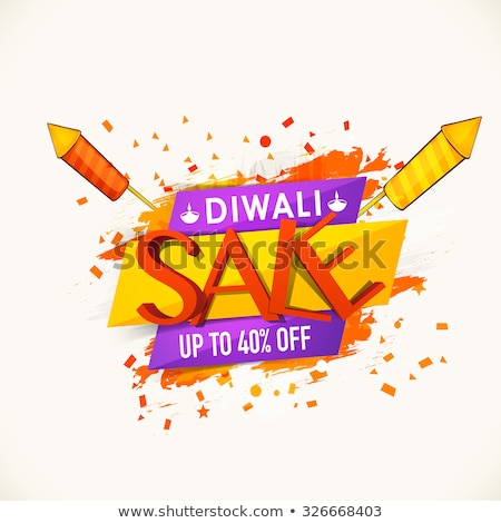 colorful diwali festival beautiful banner design with attractive Stock photo © SArts