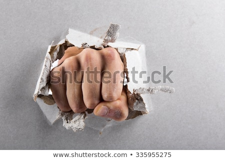 a fist smashes through the wall Stock photo © rogistok