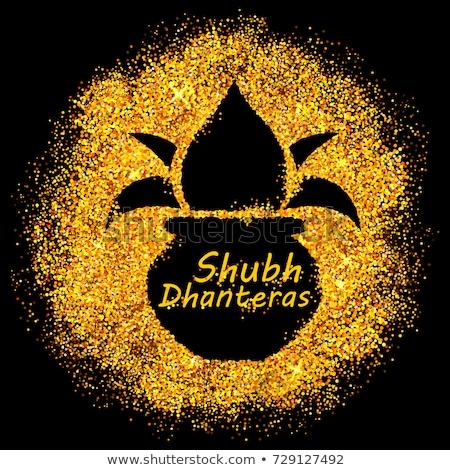 hindu festival of happy dhanteras sparkle background Stock photo © SArts