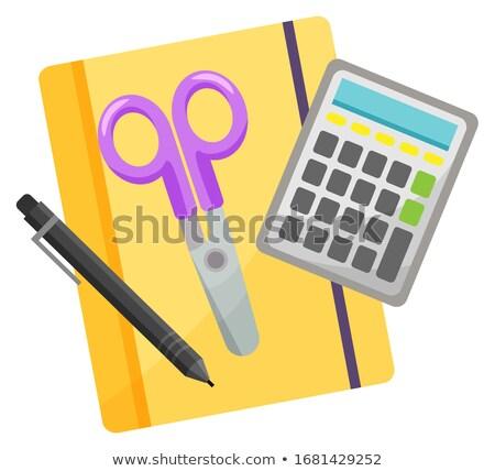 オフィス ノートブック 電卓 ベクトル 鉛筆 消しゴム ストックフォト © robuart