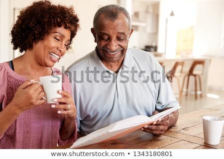 вид сбоку счастливым улыбаясь старший женщины Сток-фото © wavebreak_media