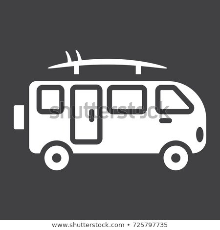 Van czarny ikona pojazd Zdjęcia stock © YuriSchmidt