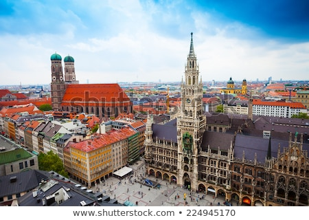 Nuevos ciudad sala Munich cielo azul cielo Foto stock © elxeneize