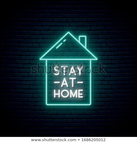 Coronavirus Neon Signboard Stock photo © -TAlex-