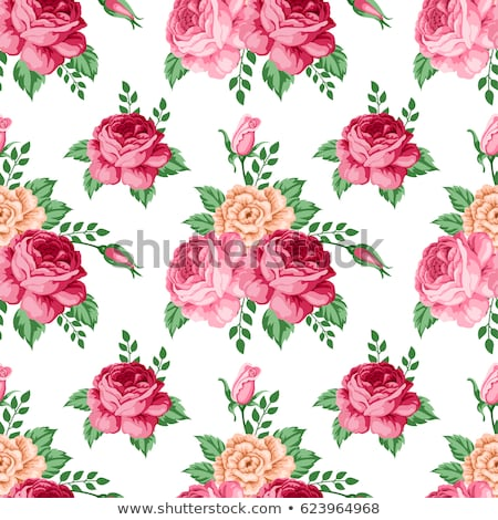 Vintage bouquet of blooming roses background, elegant floral pre Stock photo © Anneleven