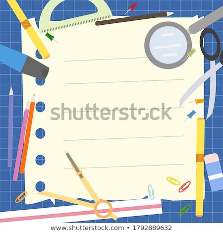 Design coloré crayon loupe ciseaux Photo stock © articular