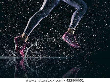 アスリート 足 クローズアップ フィットネス スポーツ ストックフォト © choreograph