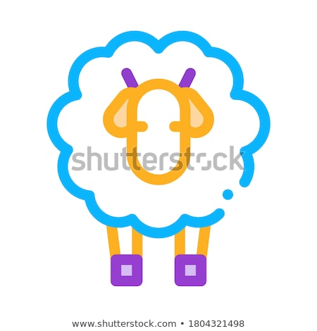 Woolly Sheep Lamb Animal Icon Outline Illustration Stock photo © pikepicture