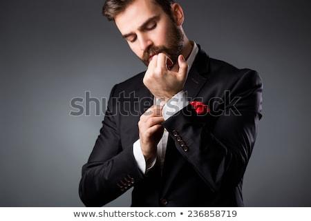 Esküvői ruha kabátujj közelkép felismerhetetlen szabó csukló Stock fotó © pressmaster