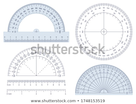 Protractor for Measuring Angles, Rounded Ruler Stock photo © robuart