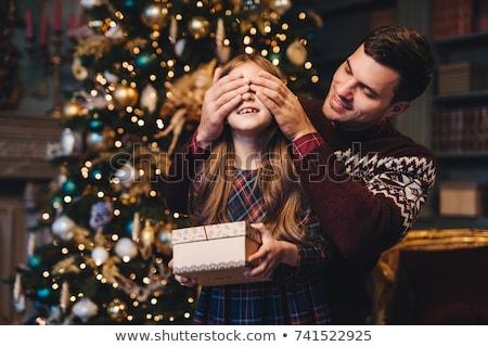 Retrato jovem pai olhos surpresa Foto stock © vkstudio
