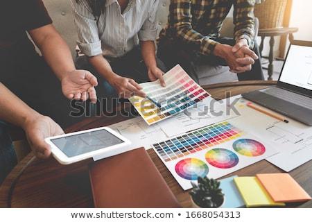 Creative équipe réunion originale pr Photo stock © snowing